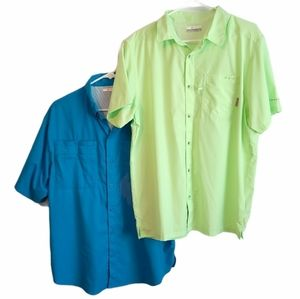 Columbia PFG Button Up Shirts Lot of 2